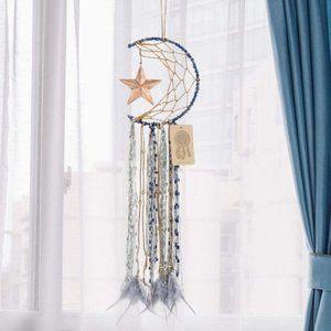 ⬇️ Moon Star Blue Boho Dream Catchers Wall Hanging